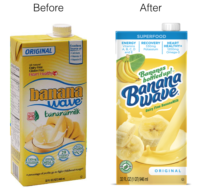 Beverage Package Design, Banana Wave Package Design