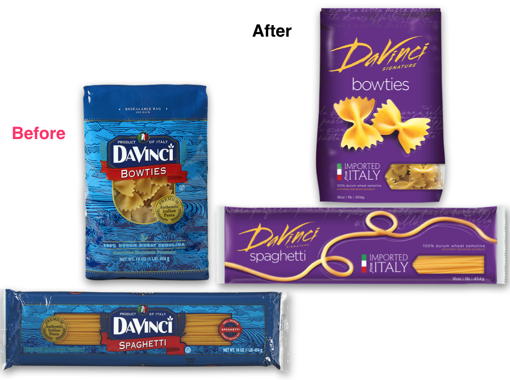 DaVinci Pasta New Package Design